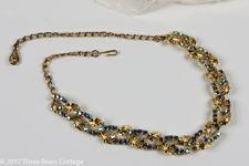 Coro Jewelcraft Aurora Borealis Leaf Necklace