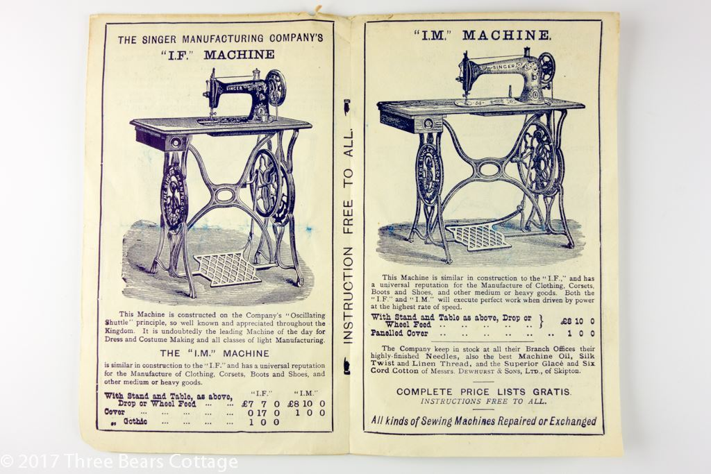 Framed Singer's Sewing Machines Pamphlet From 1891