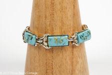 Coro Turquoise Blue Lucite Bracelet