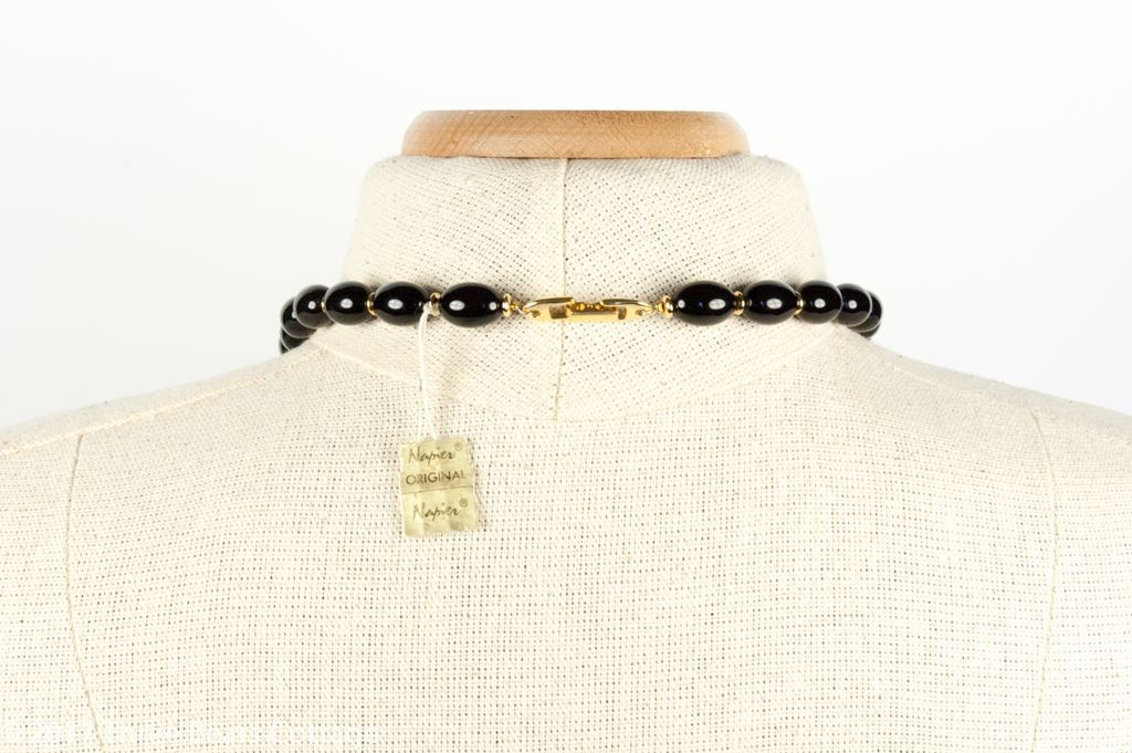 Napier Black Bead Necklace