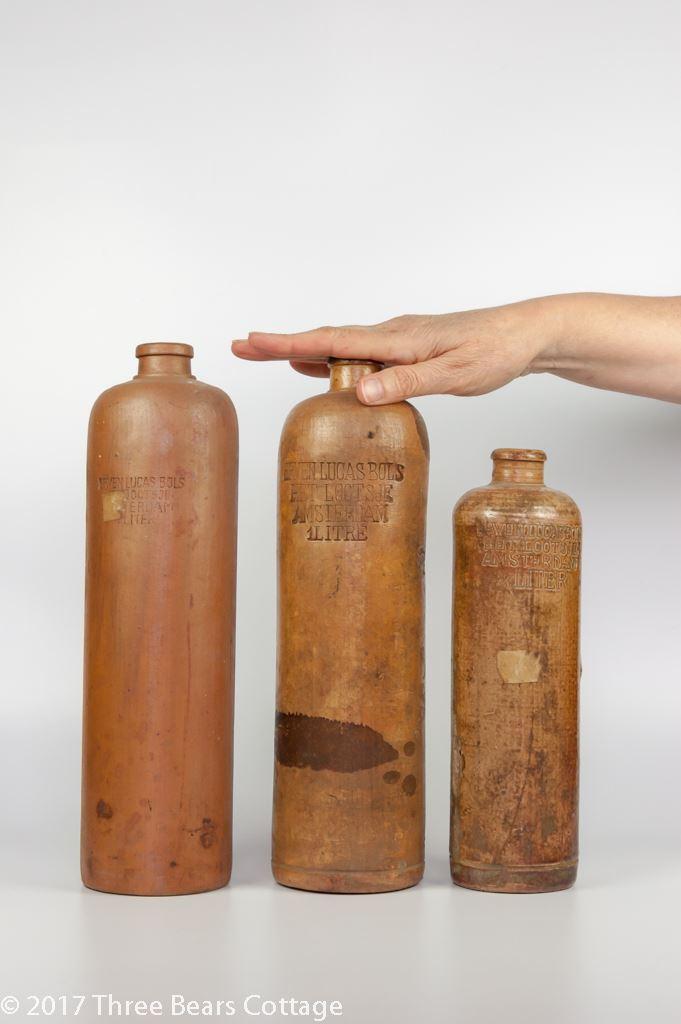 Erven Lucas Bols Salt Glazed Gin Bottles