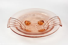 Art Deco Orange Glass Bowl
