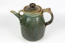 Blue Green Studio Pottery Teapot