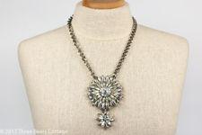 Butler & Wilson Crystal Flower Pendant Necklace