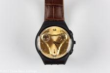 "Swatch ""Goldeneye"" Skin Chronograph Watch"
