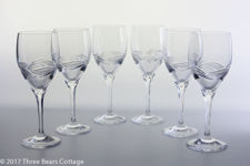 "Nachtmann ""Vanessa"" Clear Crystal Wine Glasses"