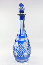 Cobalt Blue Crystal Decanter