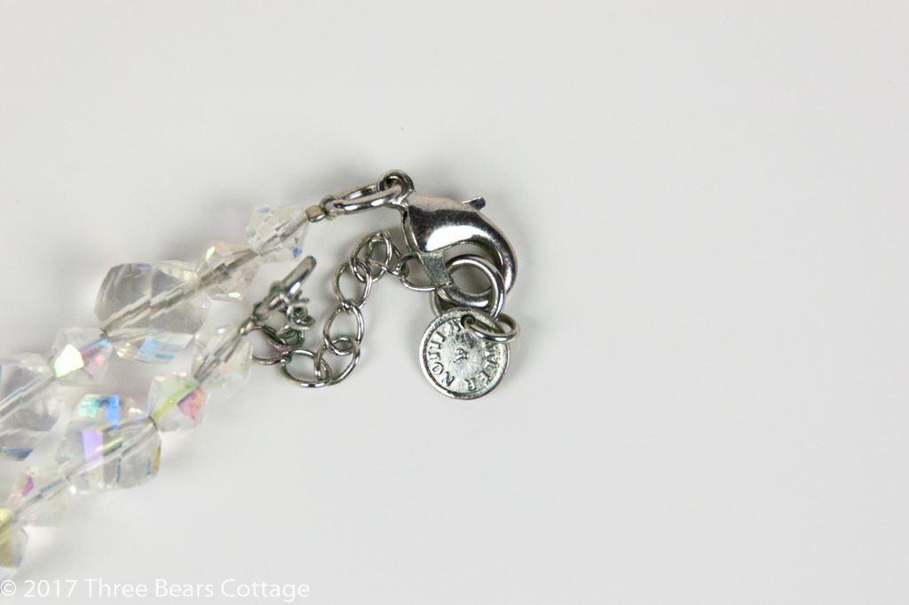 Butler & Wilson Green Crystal Flower Choker Necklace