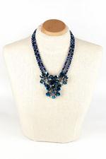 Butler & Wilson Iridescent Blue Flower Necklace