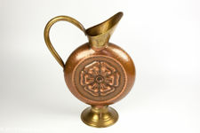 Dinant Hammered Copper and Brass Flagon