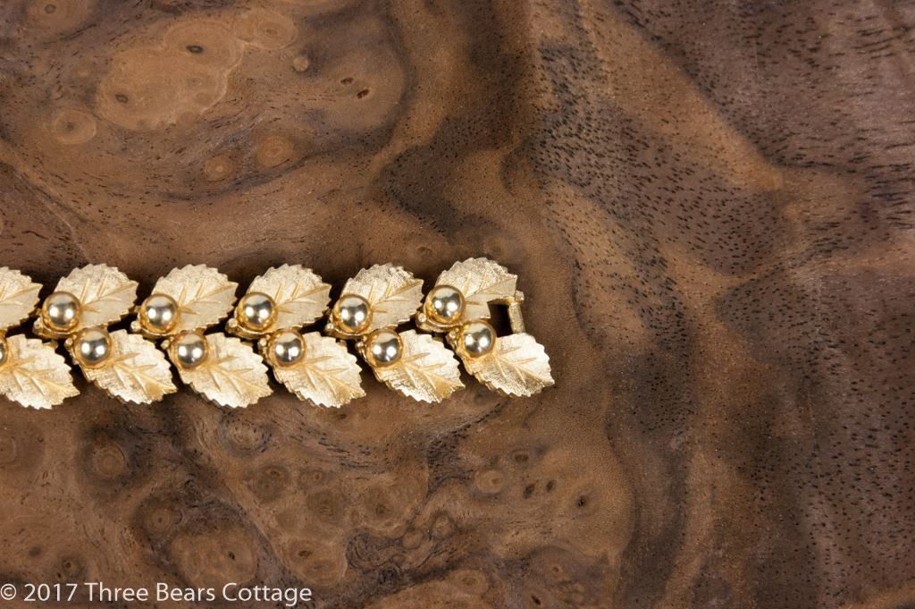 Crown Trifari Leaves & Berries Bracelet