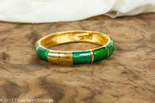 Monet Green Basse Taille Bangle