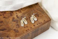 Butler & Wilson Crystal Shoe Earrings