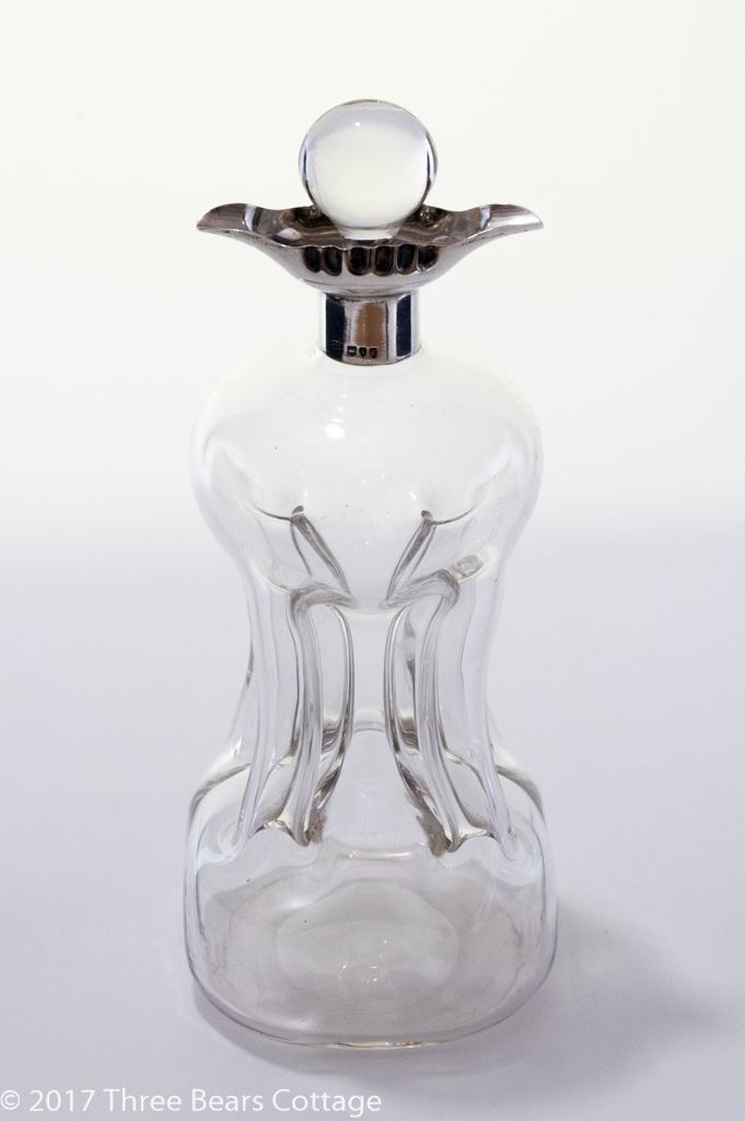 Hukin and Heath Silver Mounted Glass Decanter