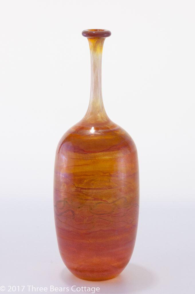 Karl Schmid Handblown Glass Vase