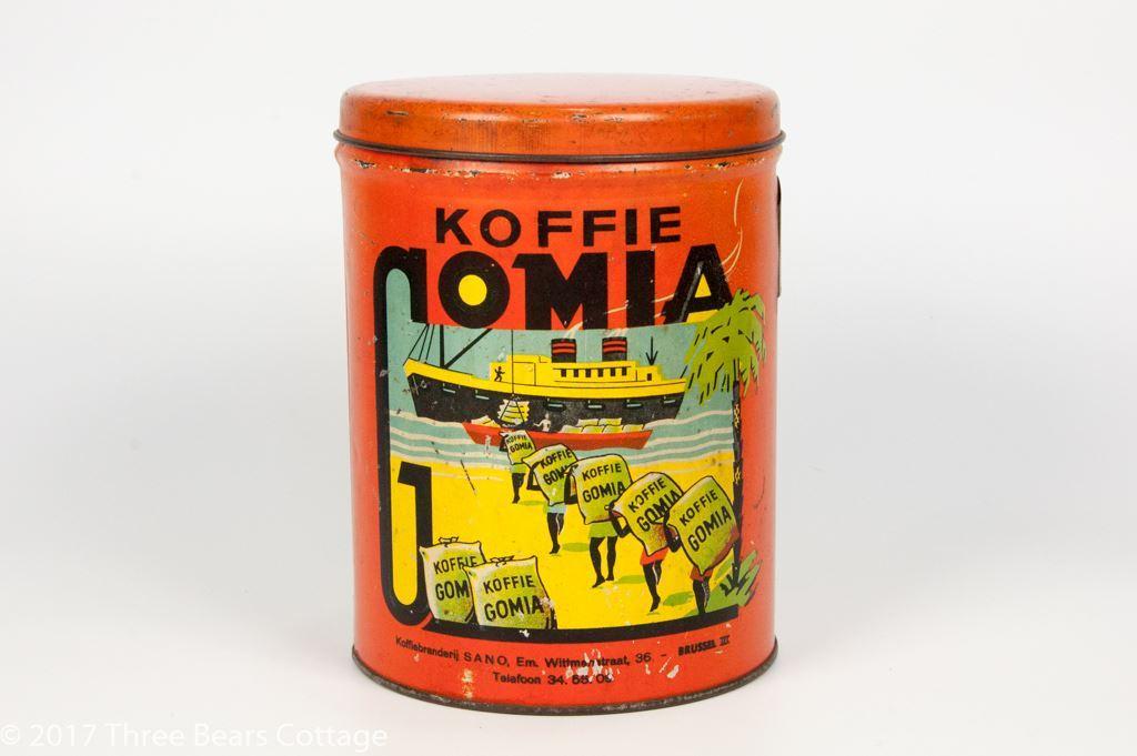 Café Gomia Belgium Coffee Tin