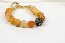 Chalcedony Quartz Beaded Bracelet