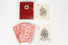 Early 1900s Wide Goodall Playing Cards with Tin Case