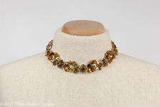Coro Amber Crystal Flower Necklace