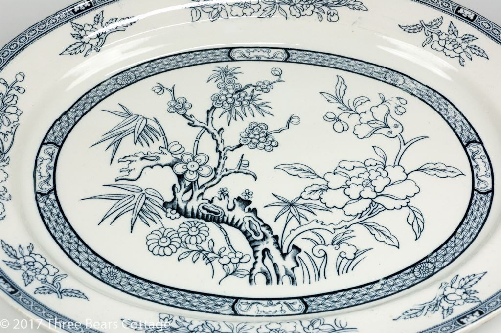 Ashworth Bros. Large Blue and White Indian Tree Platter