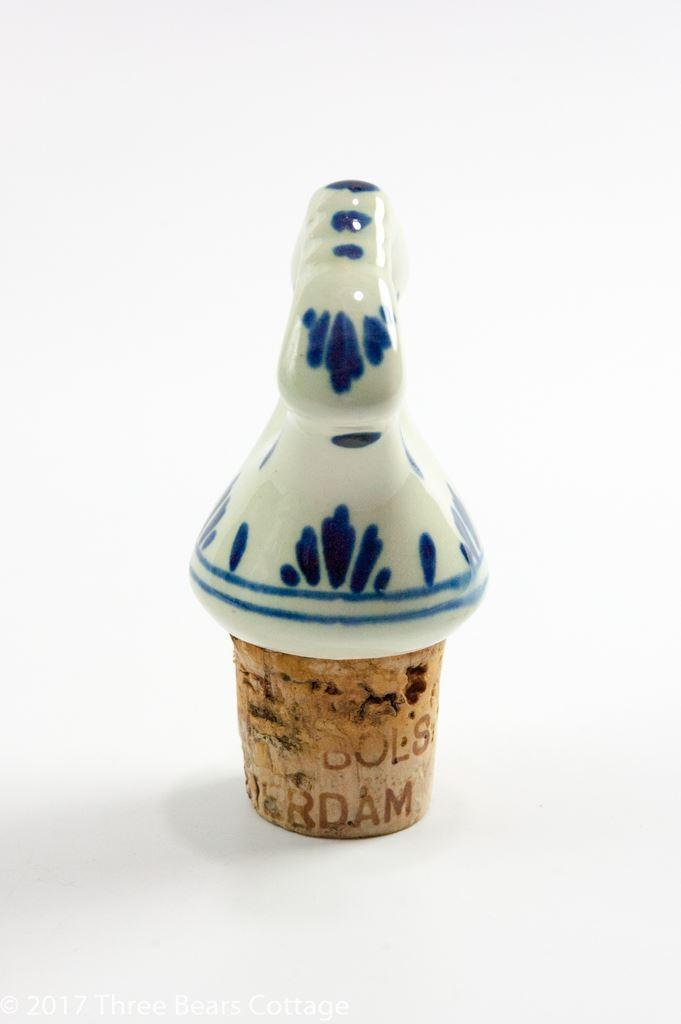 Erven Bols Delft Blue & White Round Decanter