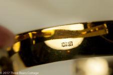 Engraved Vermeil Gilt Sterling Silver Bangle