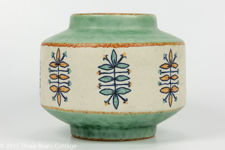 Jasba Keramik 1960s Hand Decorated Vase