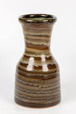 Chris Carter Brown Spiral Glaze Vase