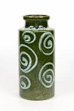 Scheurich Keramik 1970s Green And White Vase