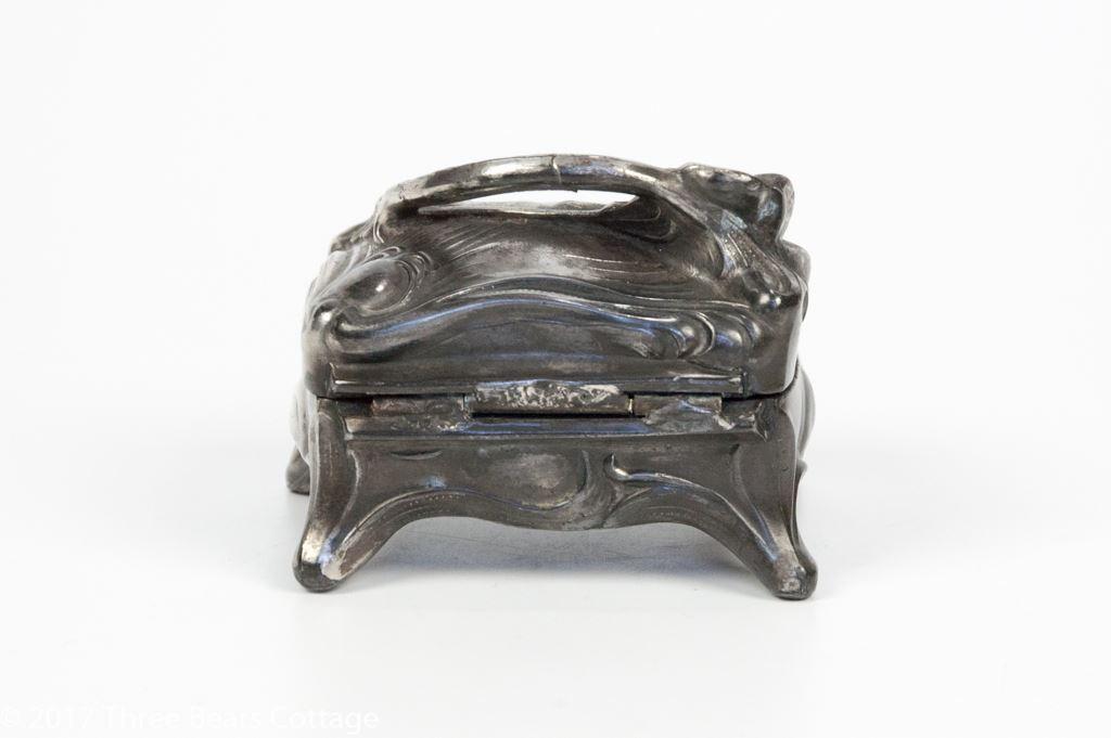 Art Nouveau Pewter Trinket Box