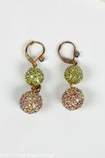 Butler & Wilson Double Crystal Globe Earrings