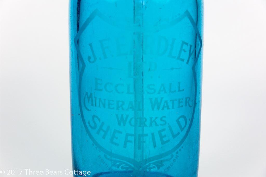 J Eardley of Sheffield Blue Glass Soda Siphon