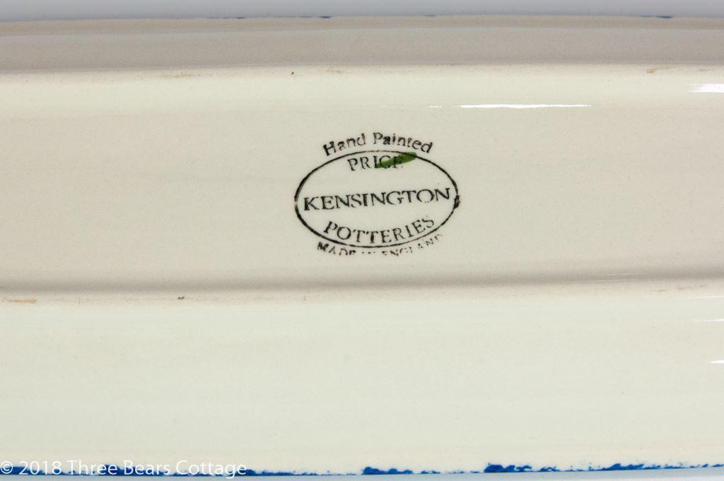 Price & Kensington Long Blue Sheep Design Serving Dish