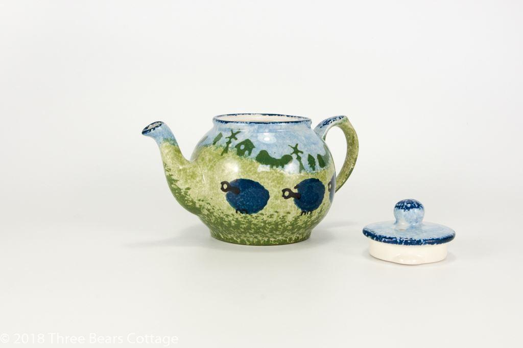 Price & Kensington Small Blue Sheep Design Teapot
