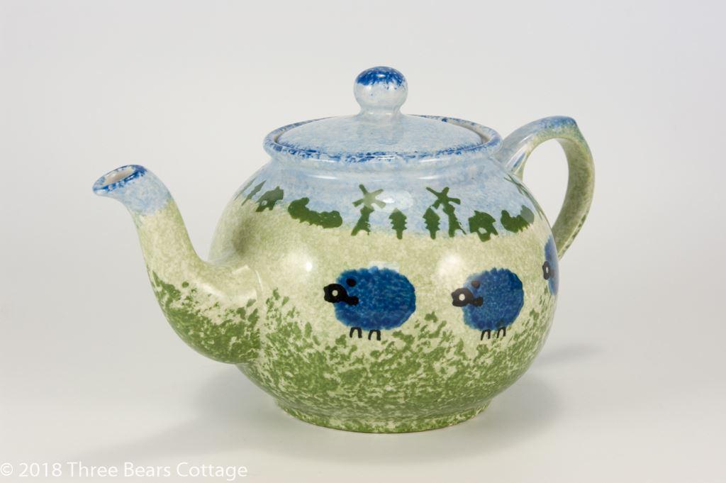 Price & Kensington Large Blue Sheep Design Teapot