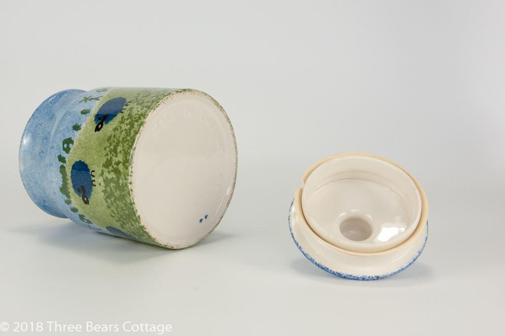 Price & Kensington Blue Sheep Design Storage Jar With Lid