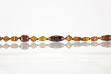 Murano Glass Brown and Amber Coloured Rope Length Necklace