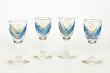 Victorian Handmade Liqueur Glasses