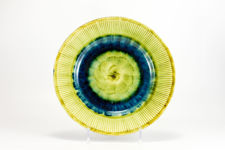 Porthmadog Pottery Blue and Yellow Plate