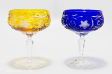 Nachtmann Traube Coloured Crystal Champagne Coupes