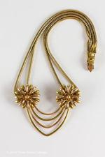 Krementz Gold Plated Flower Necklace