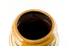 Scheurich Large Banded Lava Glaze Vase