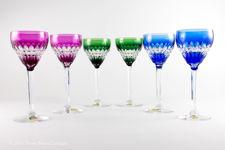 Val St Lambert Esneux Cut Crystal Wine Glasses