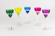 Val St Lambert Osram Liqueur Glasses
