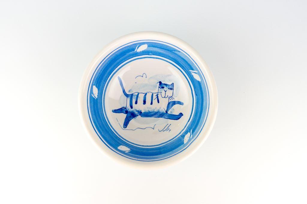 Val Sparkes Tiptoe Cat Bowl