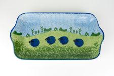 Price & Kensington Blue Sheep Design Rectangular Serving Dish