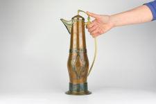 Gebrüder Bing Large Jugendstil Copper & Brass Wine Pitcher