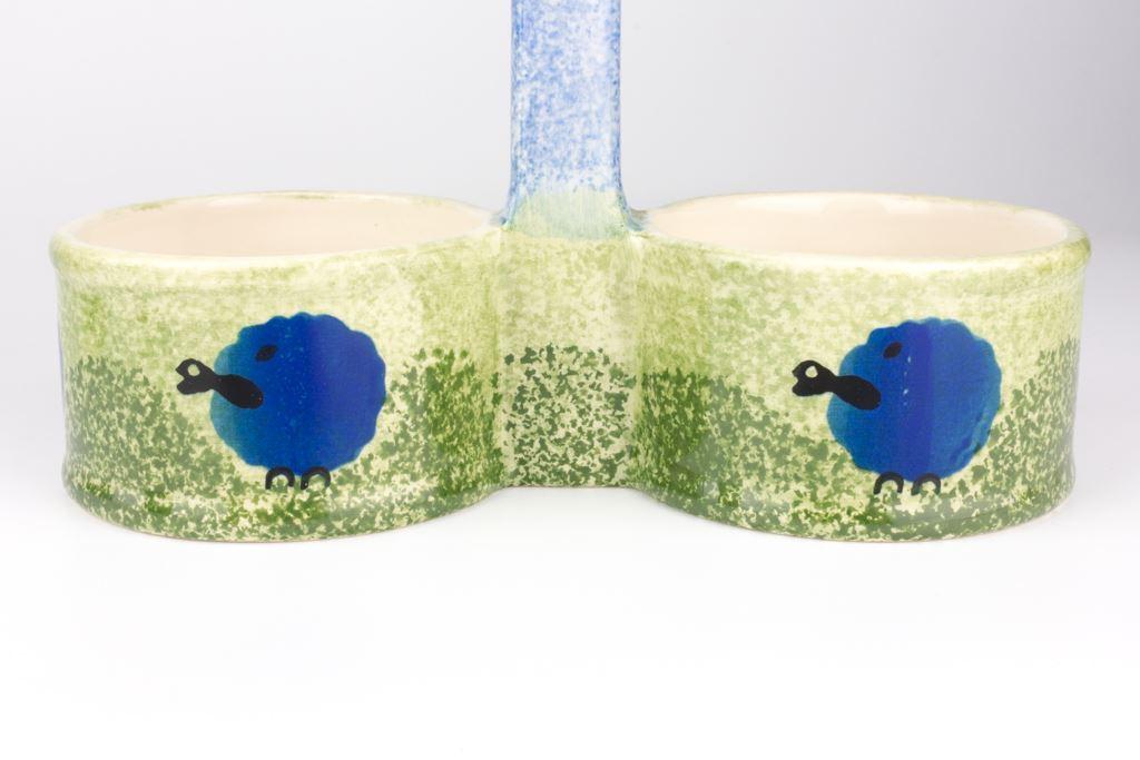 Price & Kensington Blue Sheep Design Oil & Vinegar Set