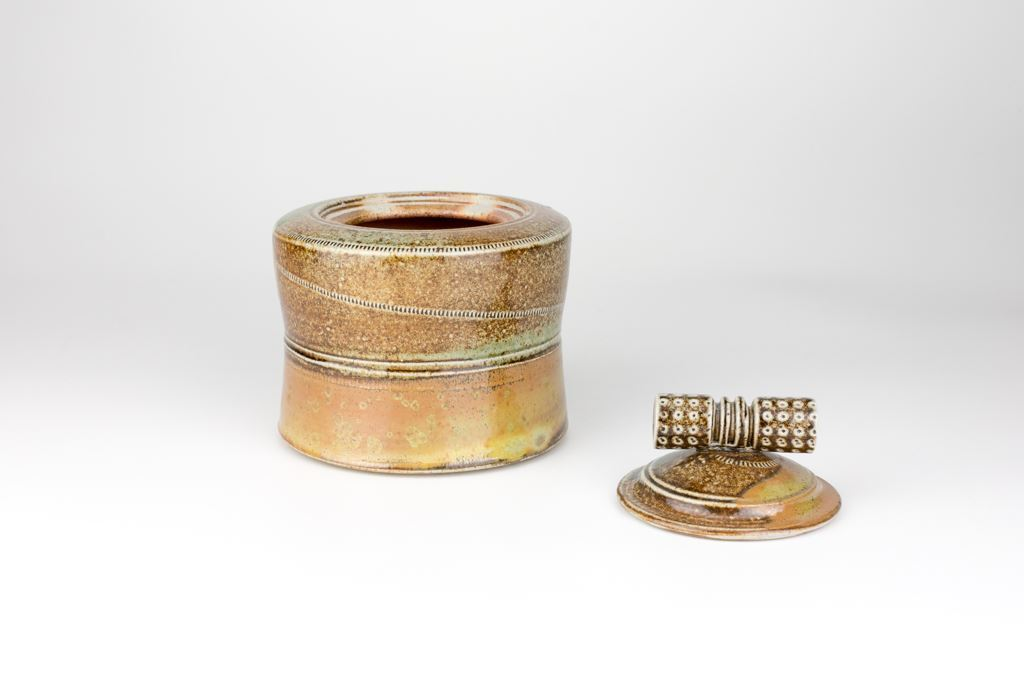 Jane Hamlyn Salt Glazed Lidded Jar