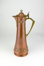 WMF Art Nouveau Jugendstil Copper & Brass Claret Jug